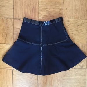 Marc Jacobs Wool & Leather Skirt
